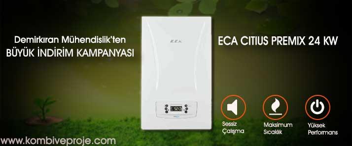 Eca Citius Premix 24 kW - Kombi Montaj ve Proje Fiyatları - En uygun kombiler